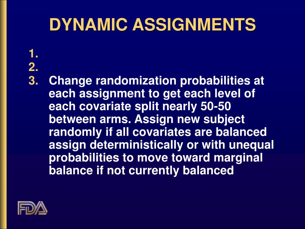DYNAMIC ASSIGNMENTS