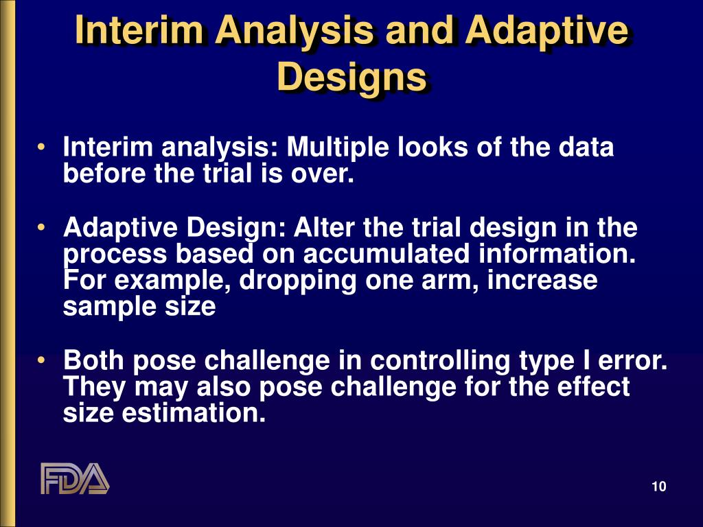 Interim Analysis and Adaptive Designs