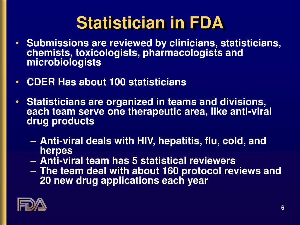 Statistician in FDA