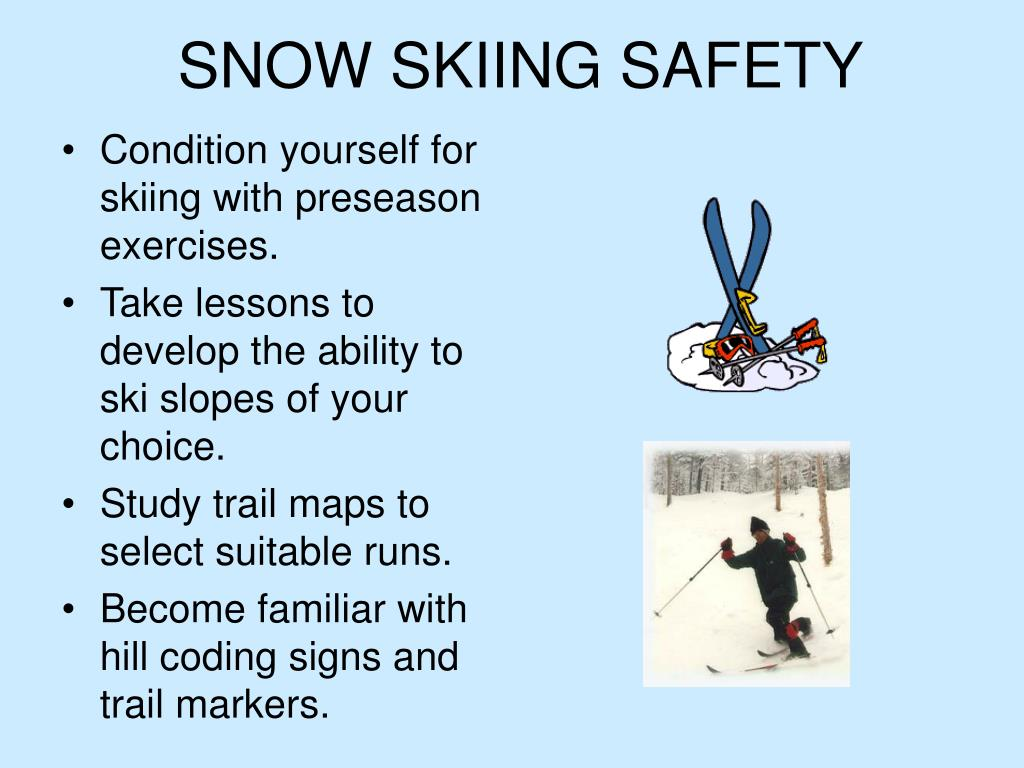 snow skiing safety l.