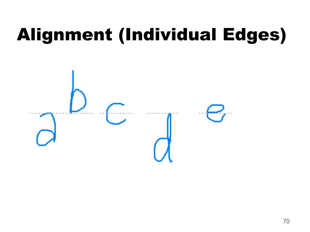 Alignment (Individual Edges)