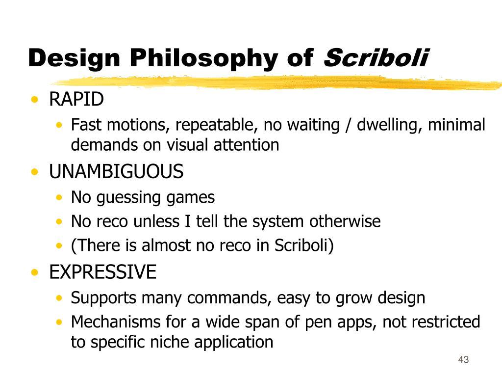 Design Philosophy of