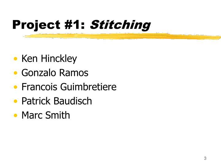 Project 1 stitching
