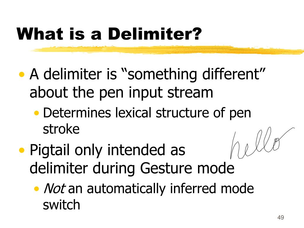 What is a Delimiter?