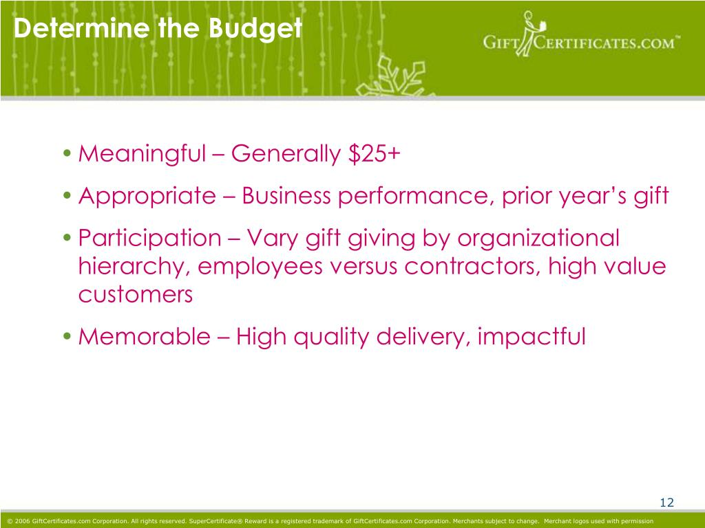 Determine the Budget