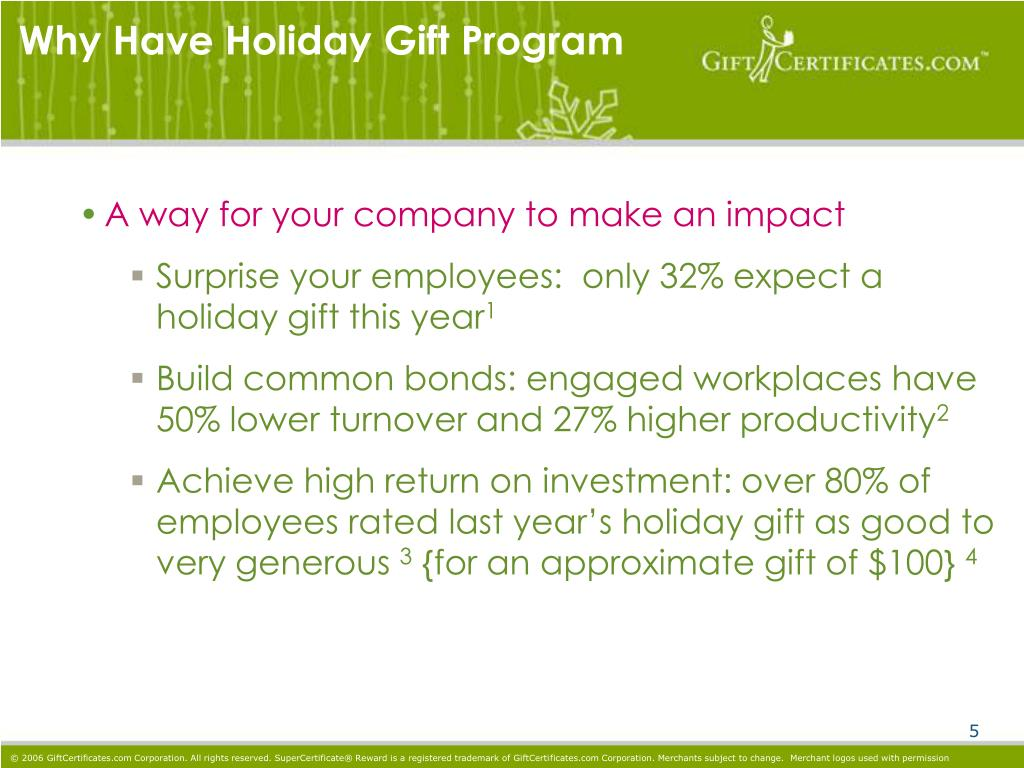 Why Have Holiday Gift Program