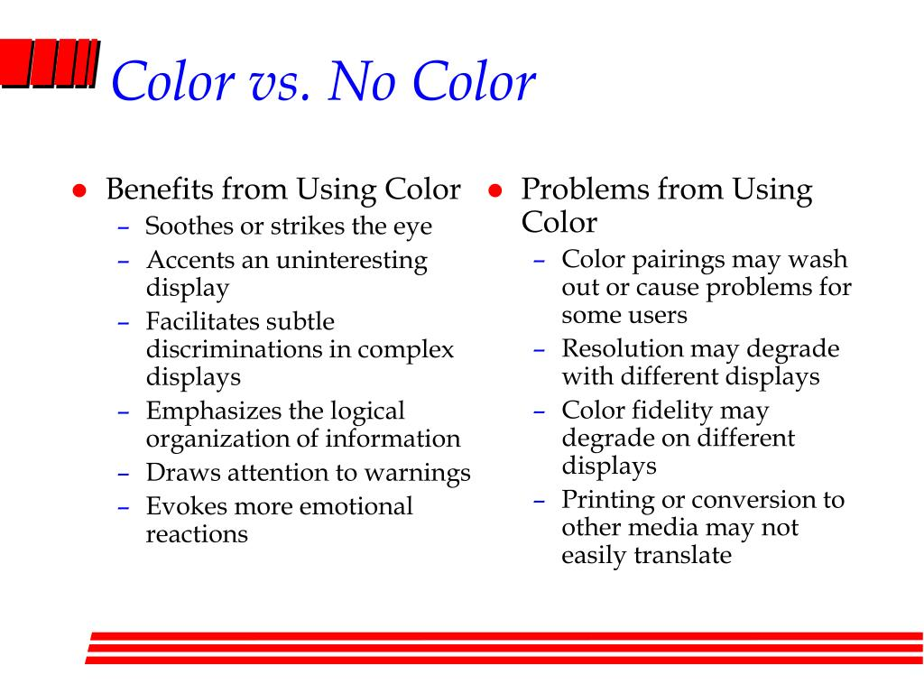 Benefits from Using Color