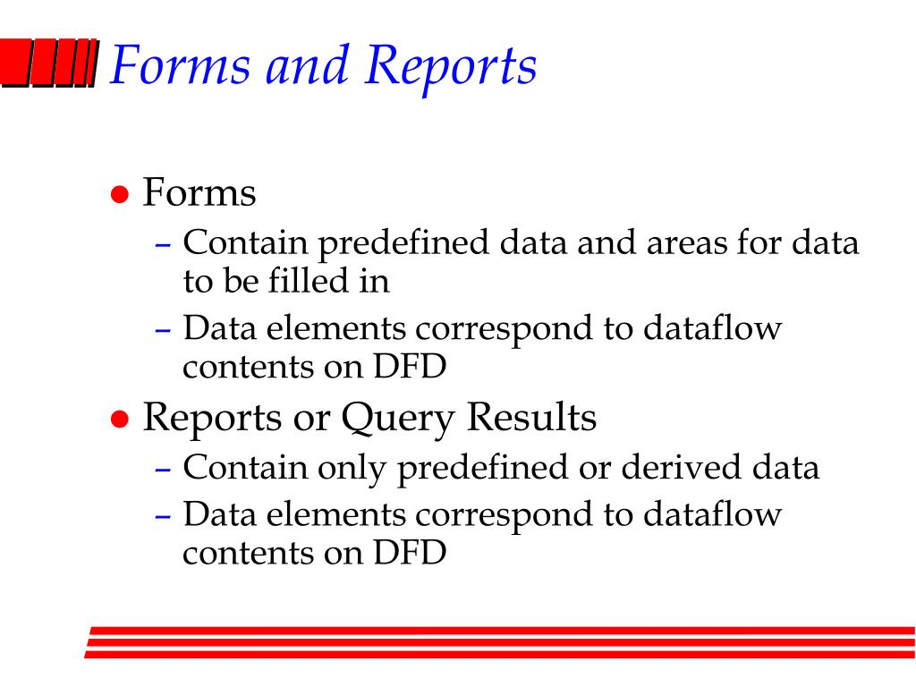 Forms and Reports
