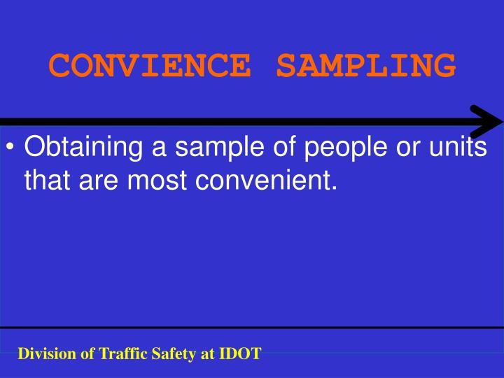 CONVIENCE SAMPLING
