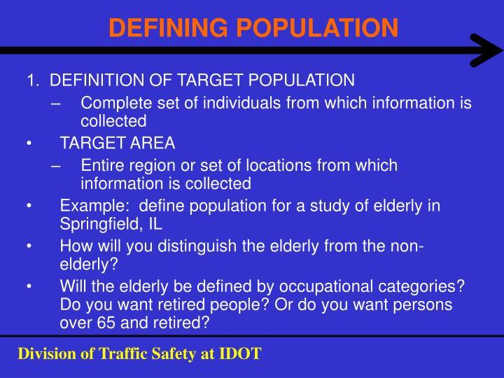 DEFINING POPULATION