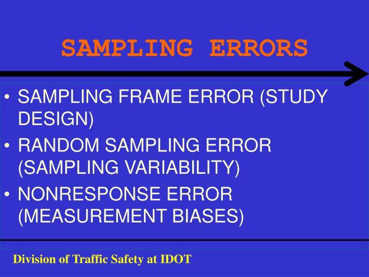 SAMPLING ERRORS