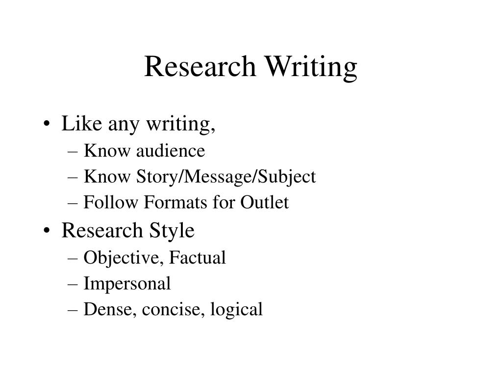 Research Writing