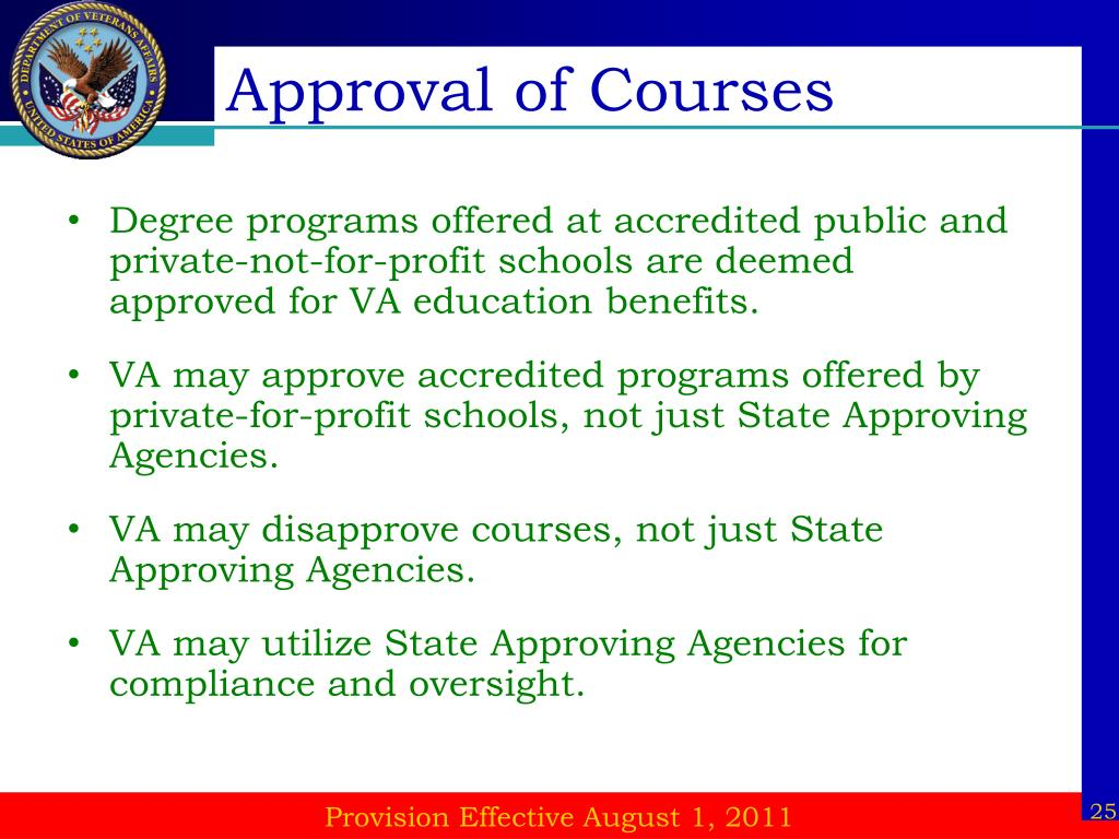 Approval of Courses