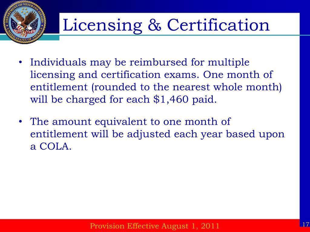 Licensing & Certification