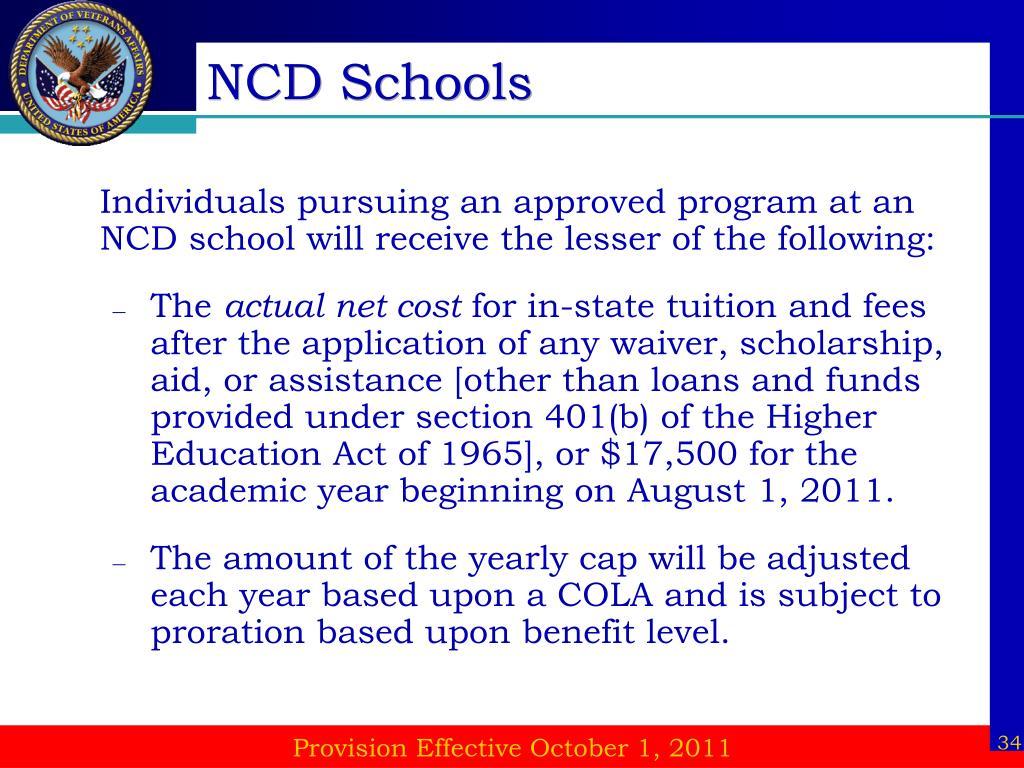 NCD Schools