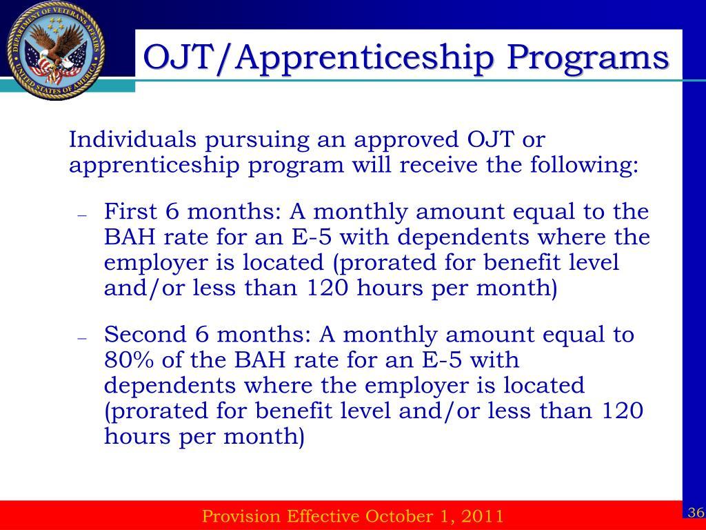 OJT/Apprenticeship Programs