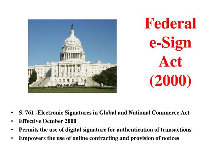 Federal e sign act 2000