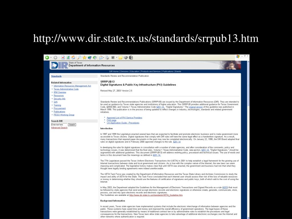 http://www.dir.state.tx.us/standards/srrpub13.htm