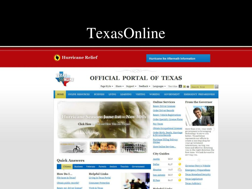 TexasOnline