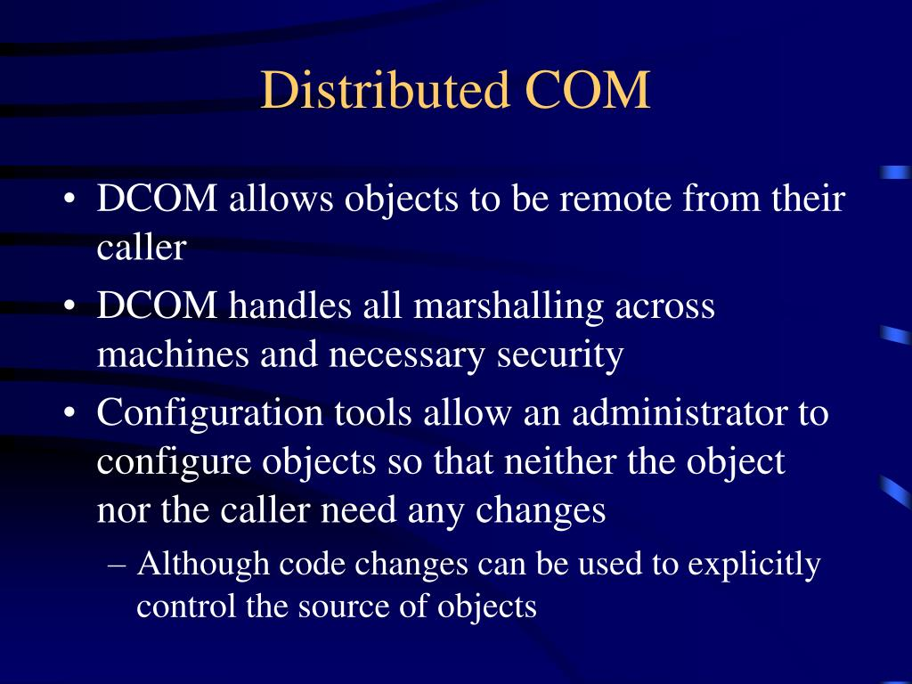 Distributed COM