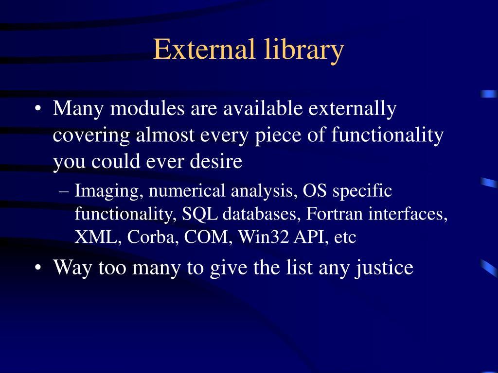 External library