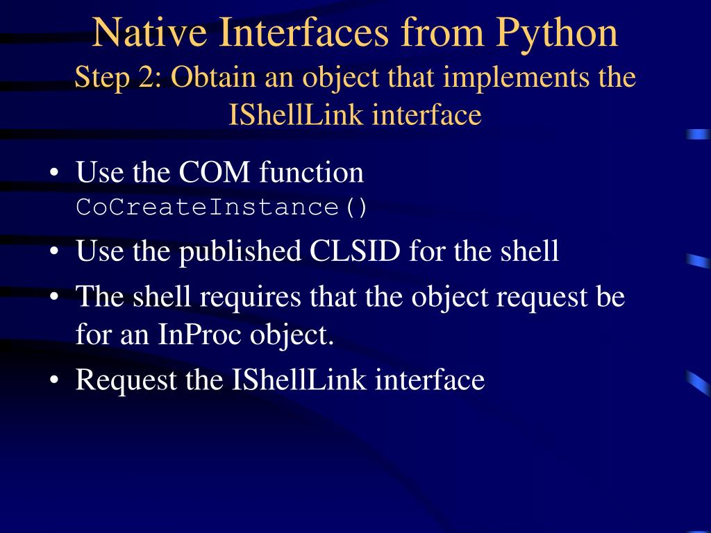 Native Interfaces from Python