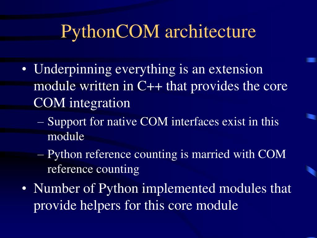 PythonCOM architecture