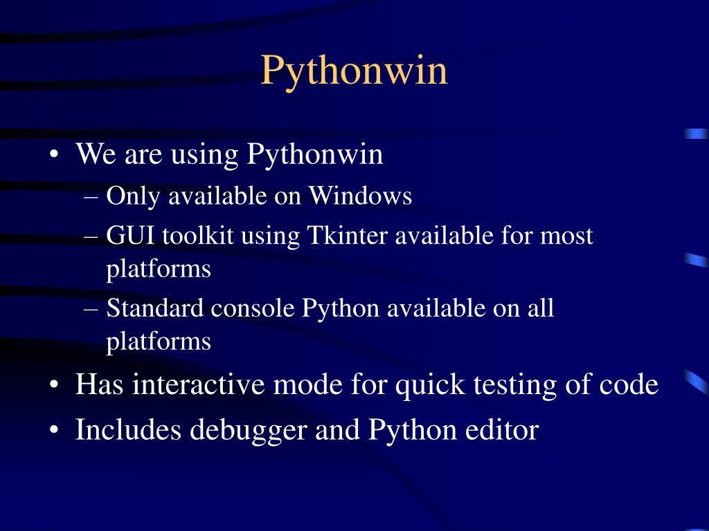 Pythonwin