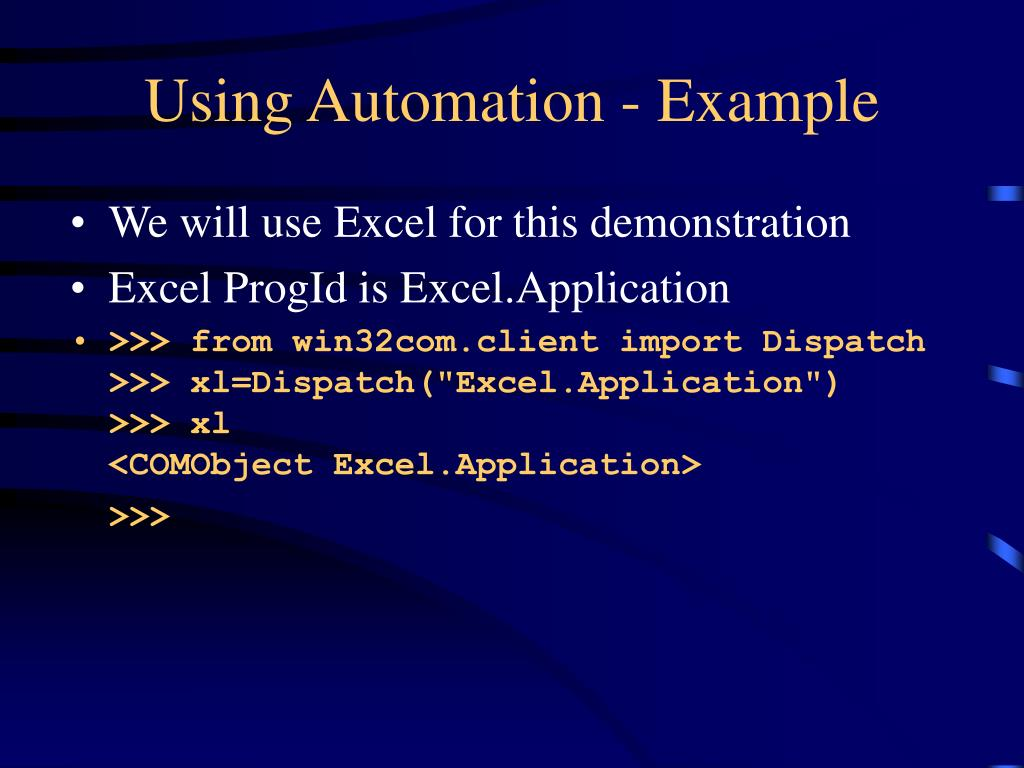 Using Automation - Example