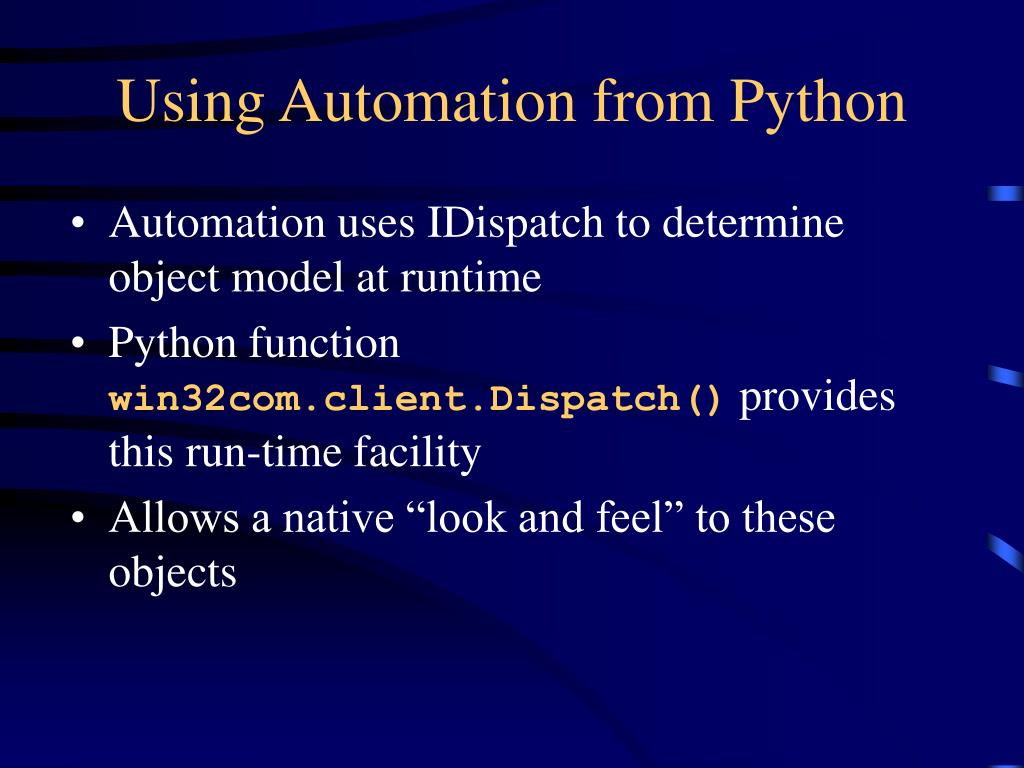 Using Automation from Python