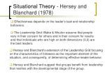 situational theory hersey and blanchard 1978