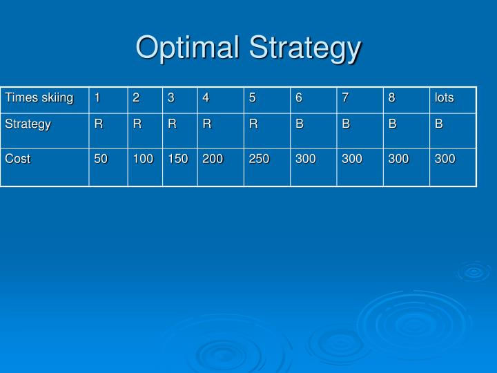 Optimal Strategy