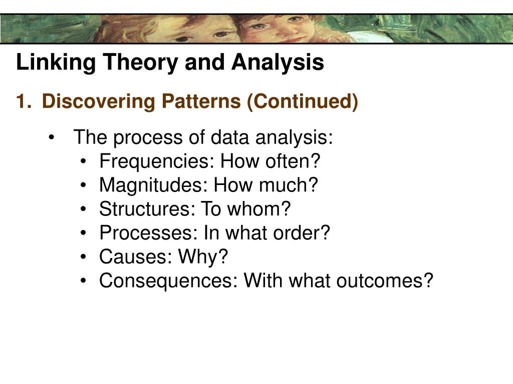 Linking Theory and Analysis