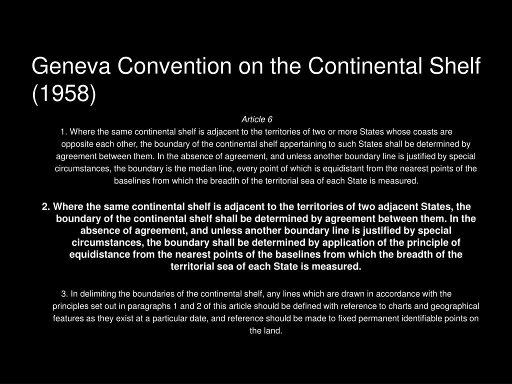 Geneva Convention on the Continental Shelf (1958)