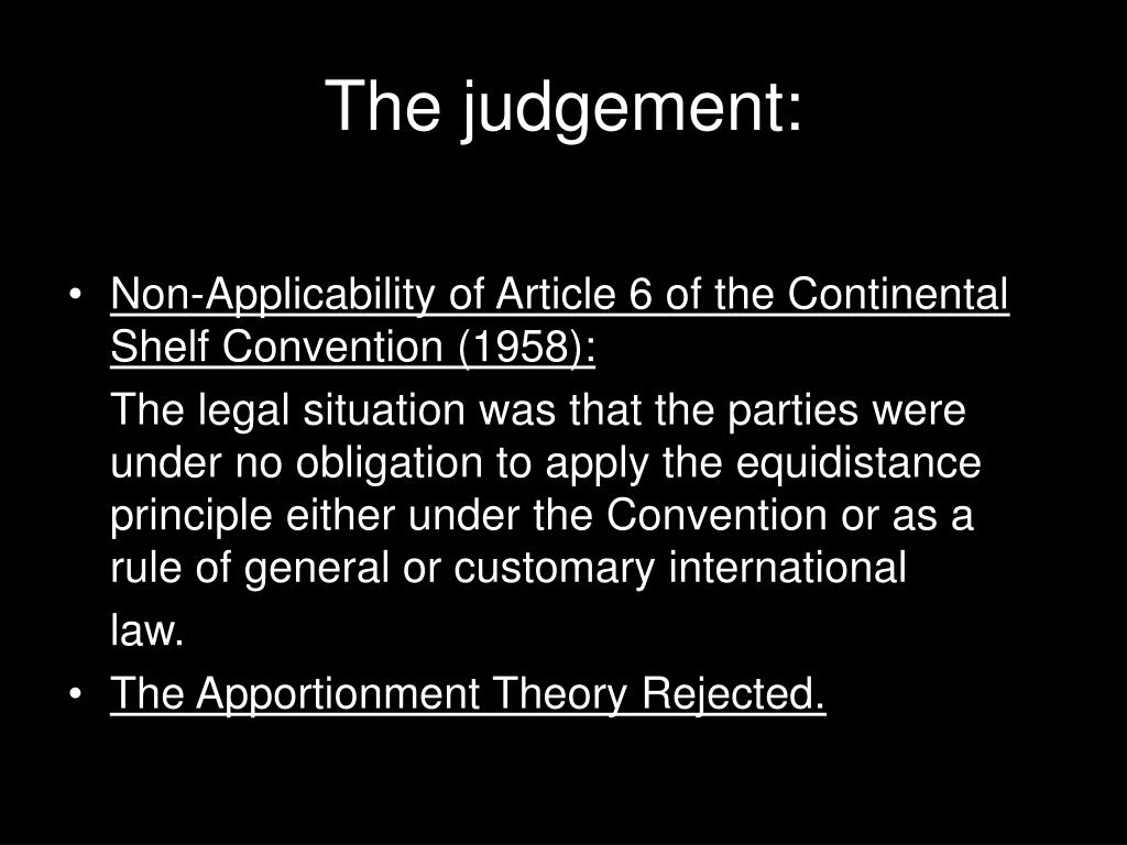 The judgement: