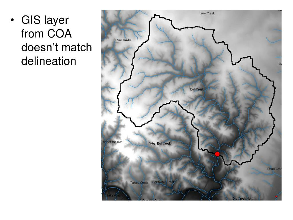 GIS layer from COA doesn't match delineation