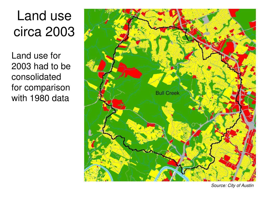 Land use circa 2003