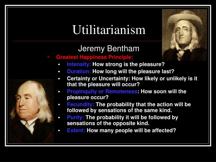 utilitarianism as the principle of happiness philosophy essay I think it's the best part of the essay and presents the case for rule utilitarianism an outstanding student will want to read all philosophers in their own words mill and bentham each believe in their own type of utilitarianism and have their own theories.