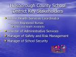 hillsborough county school district key stakeholders