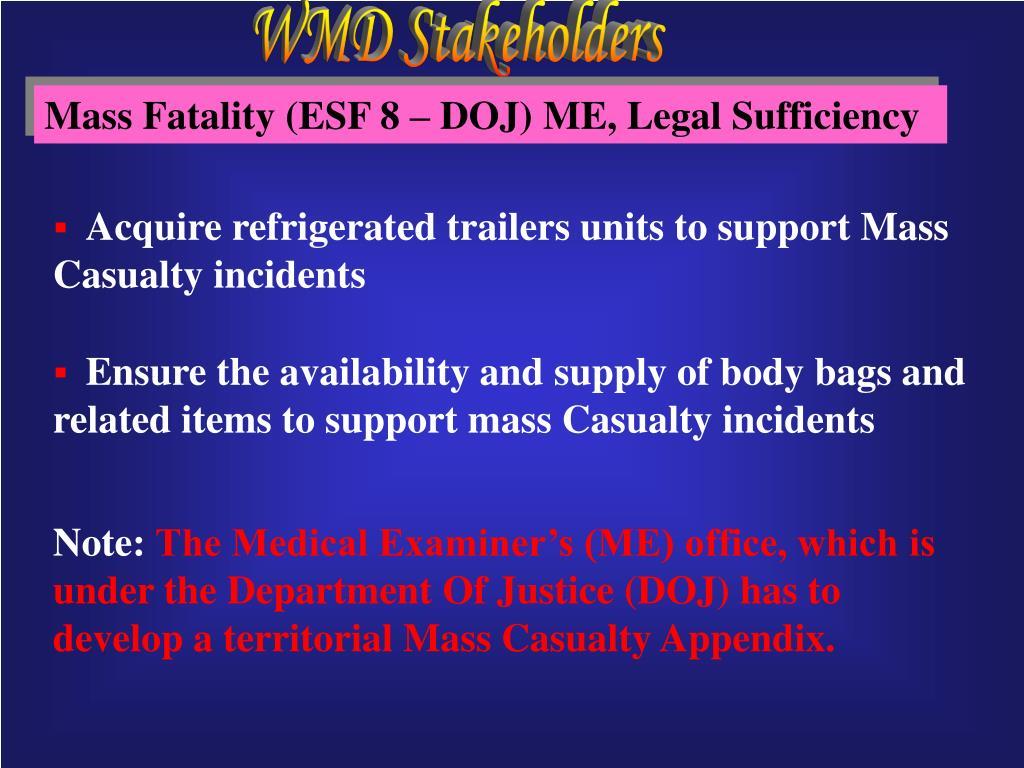 WMD Stakeholders