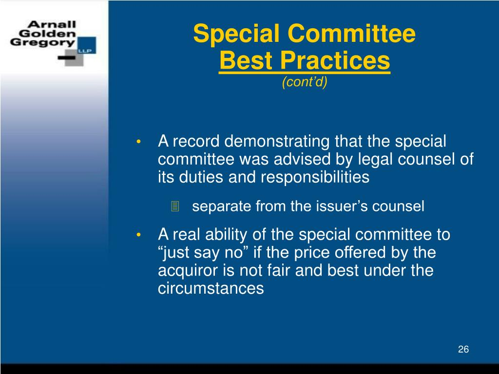 Special Committee