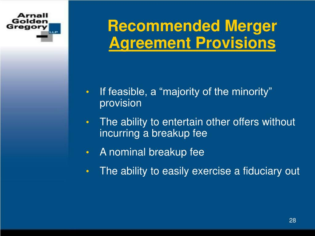 Recommended Merger