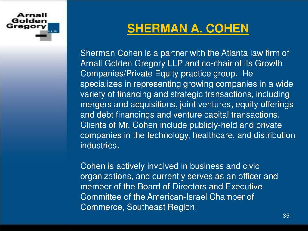 SHERMAN A. COHEN