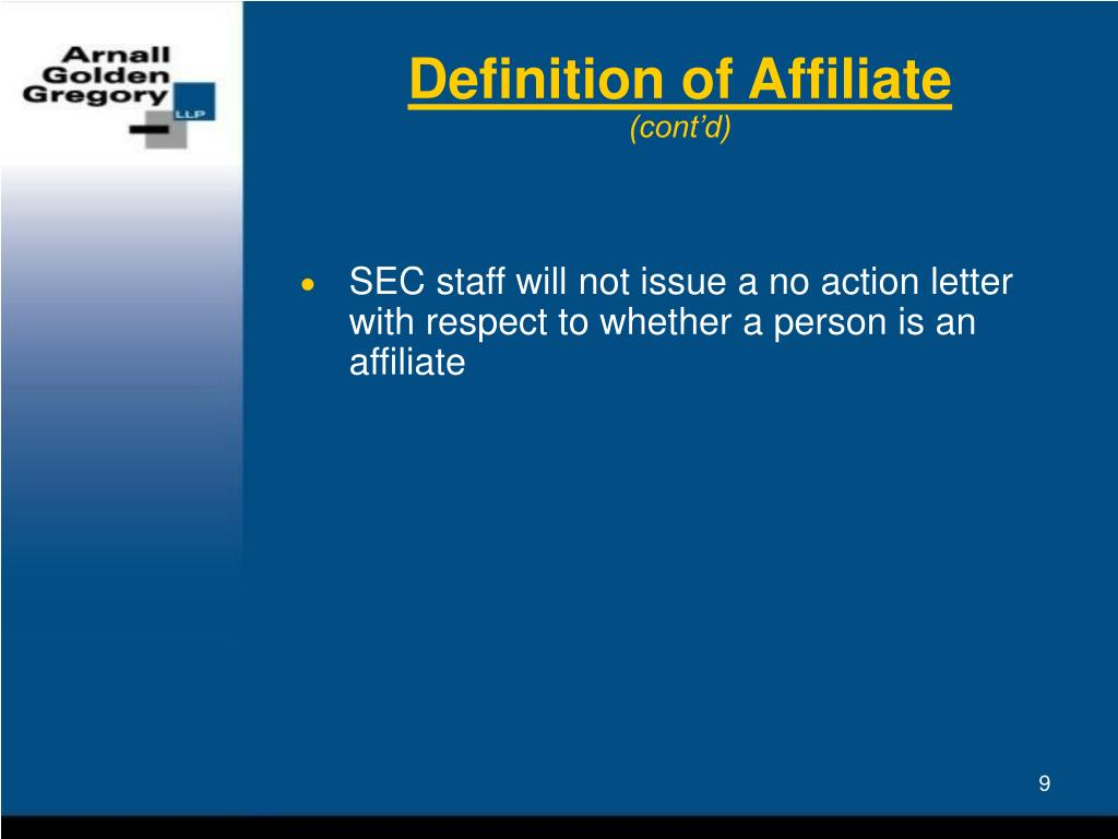 Definition of Affiliate