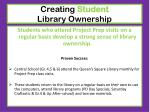 creating student library ownership