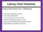 library visit timelines