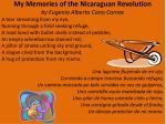 my memories of the nicaraguan revolution by eugenio alberto cano correa