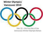 winter olympics vancouver 2010
