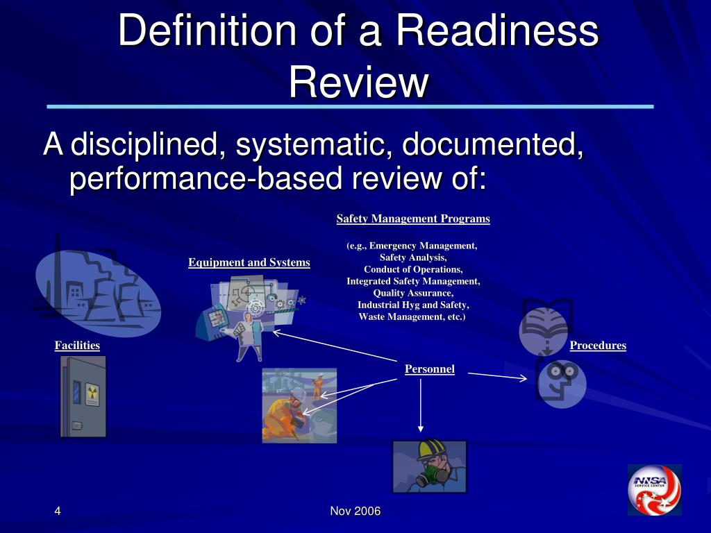 Definition of a Readiness Review