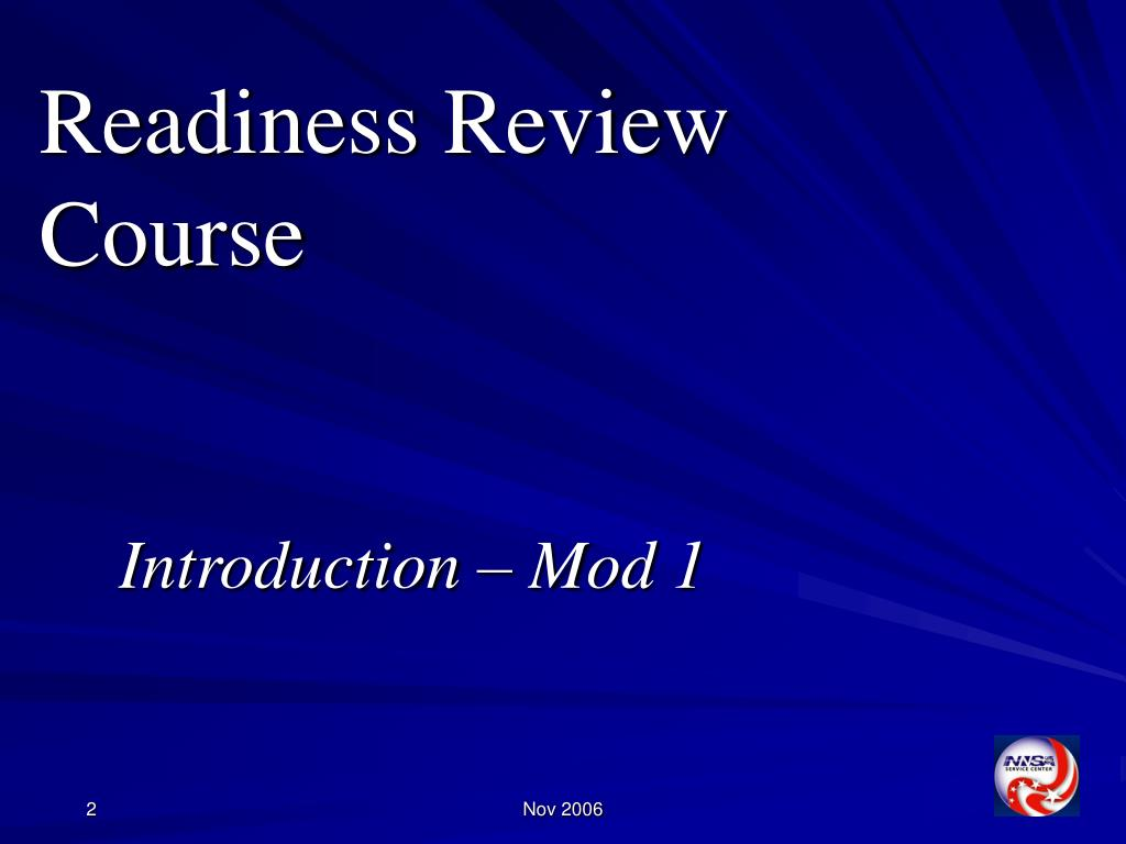 Readiness Review